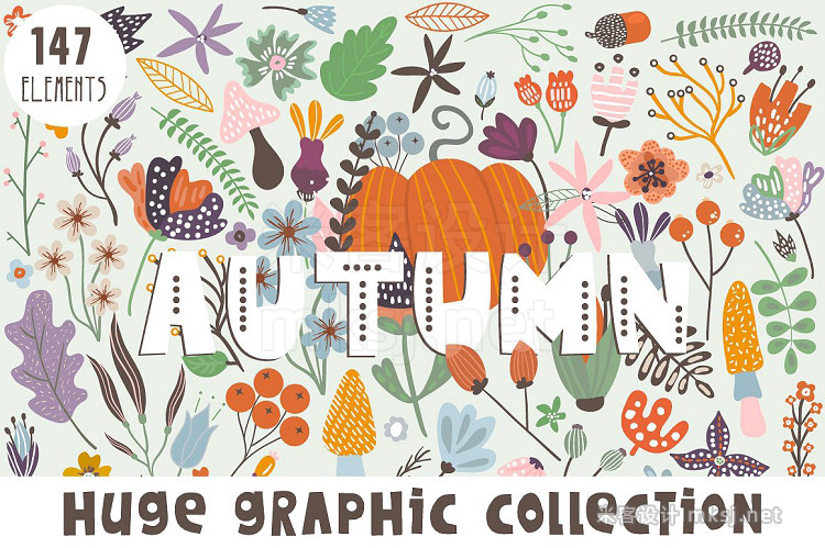 png素材 Autumn graphic collection