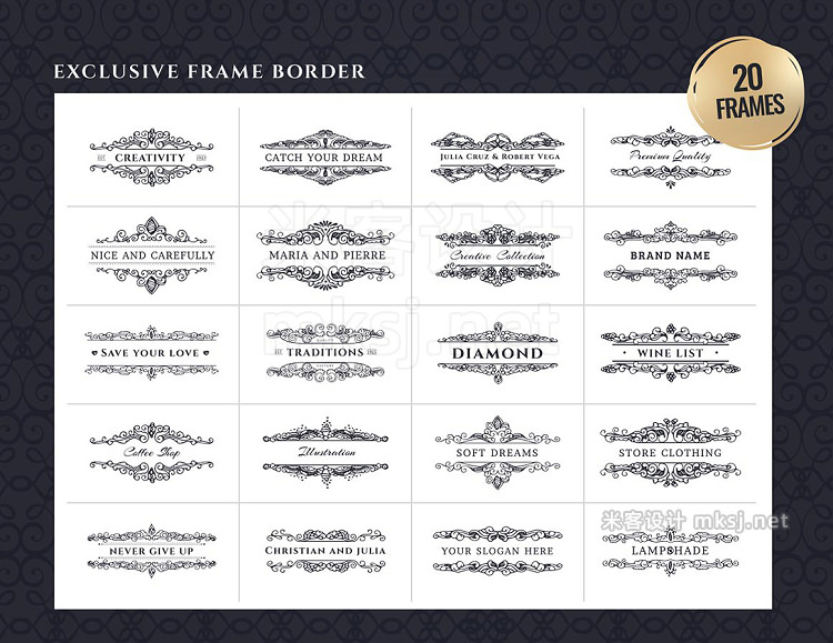 png素材 Frame borders Ready-made cards