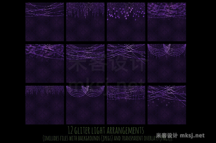 png素材 Halloween strings of light