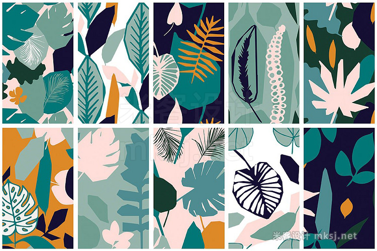 png素材 Jungle Seamless Vector Patterns