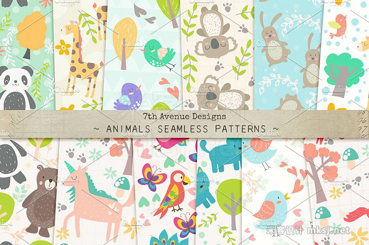 png素材 Animals Seamless Patterns