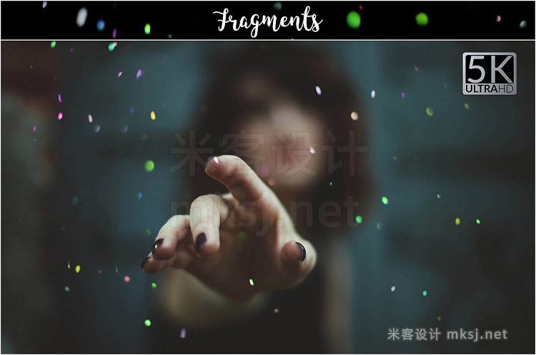 png素材 5K Fragments Overlays