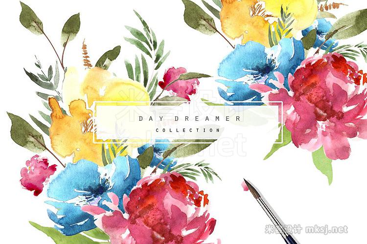 png素材 Day Dreamer Watercolour Set