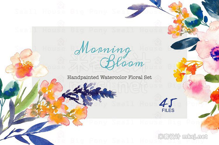 png素材 Morning Bloom-Watercolor Floral Set