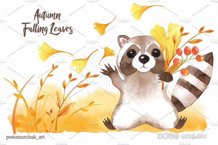 png素材 Autumn falling leaves