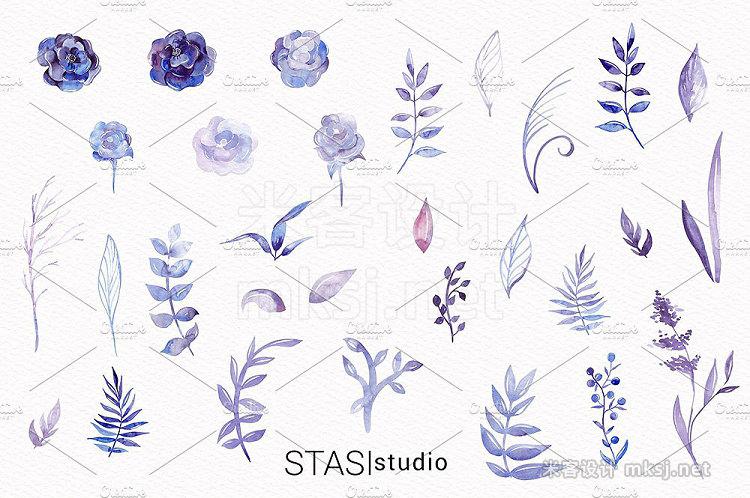 png素材 30 Watercolor Floral Elements