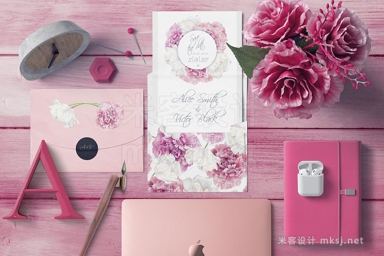 png素材 Peony Delight Wedding invitations