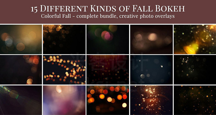 png素材 Colorful Fall Photo Overlays