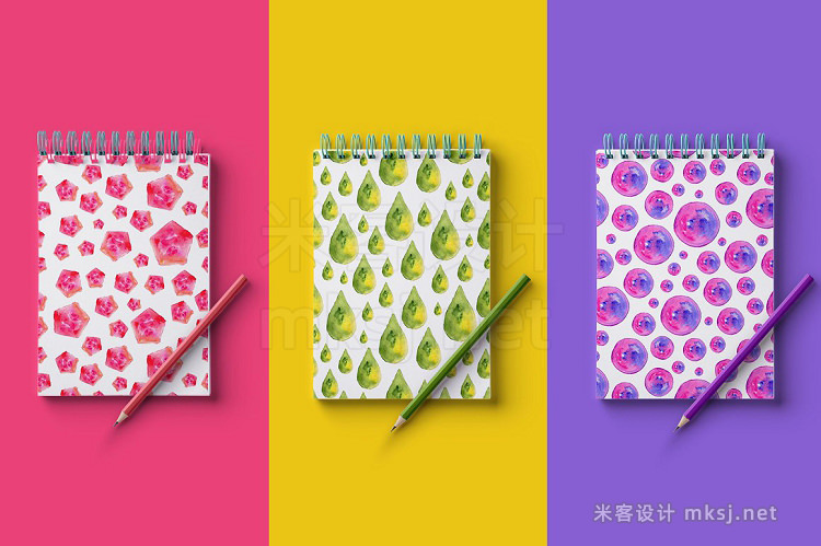 png素材 6 Watercolor Shapes and Patterns