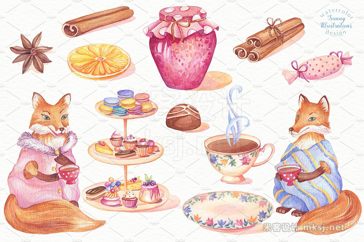 png素材 Warm Stories Watercolor Set