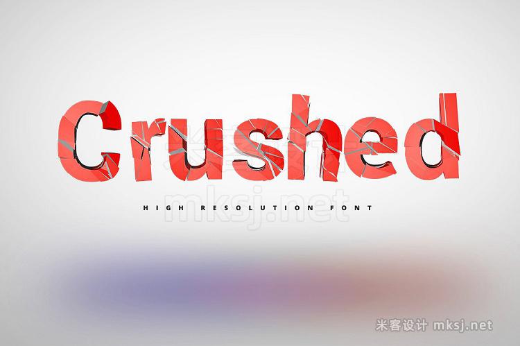 png素材 Crushed Font