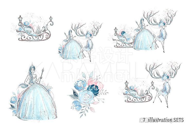 png素材 Ice Queen Clipart