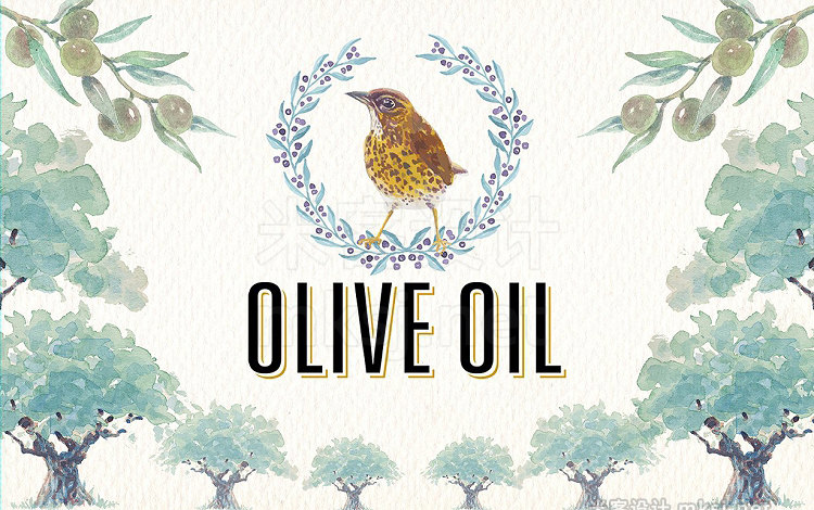 png素材 Watercolor olive oil clipart