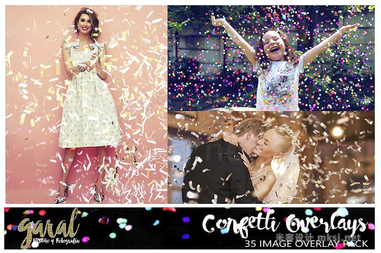 png素材 CONFETTI Overlays 35 Photo Overlays