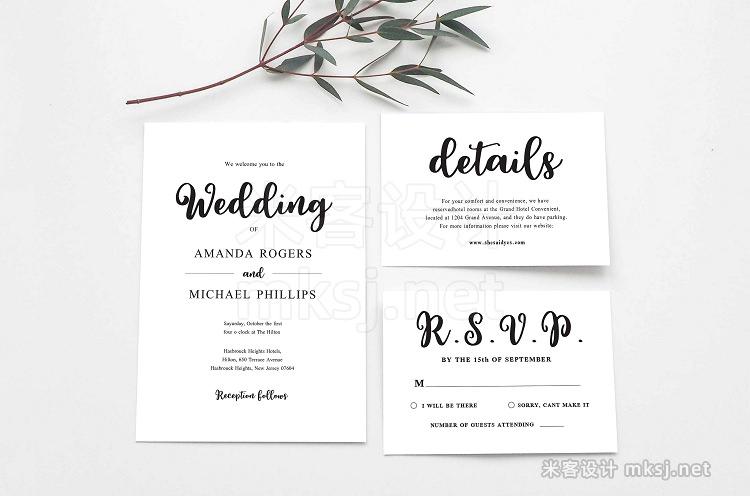png素材 Wedding Invitation Suite