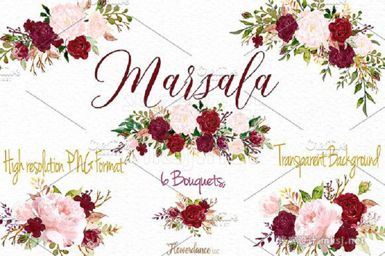 png素材 Marsala and Blush Design Collection