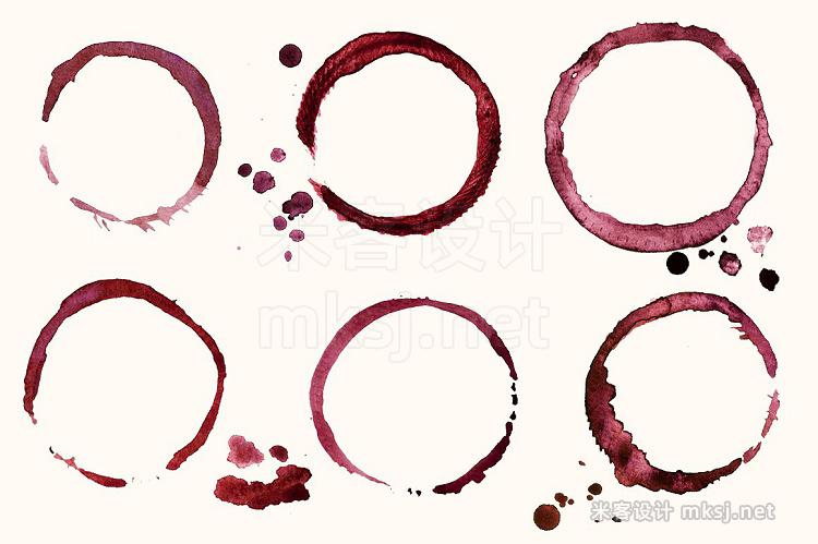 png素材 Wine watercolor elements  BONUS