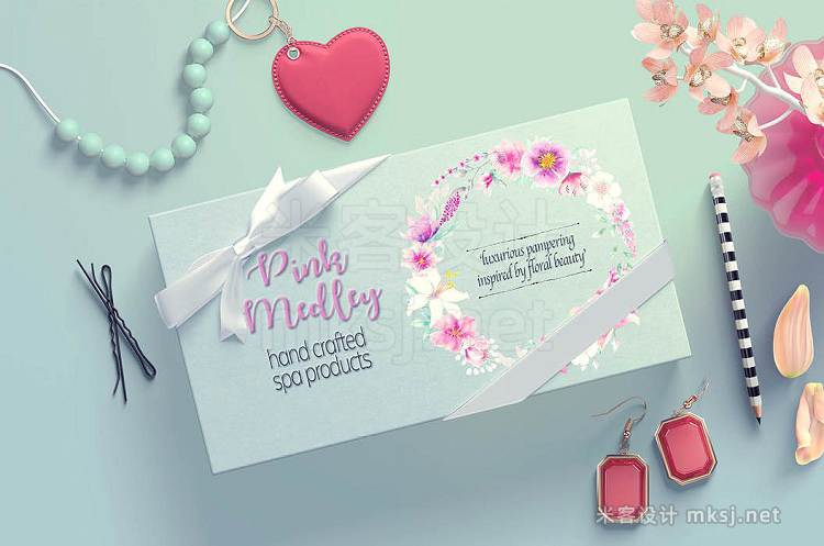 png素材 Watercolor mini bundle Pink Medley