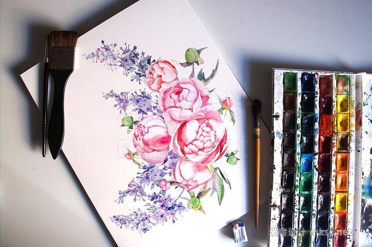 png素材 Terpsichore watercolor set