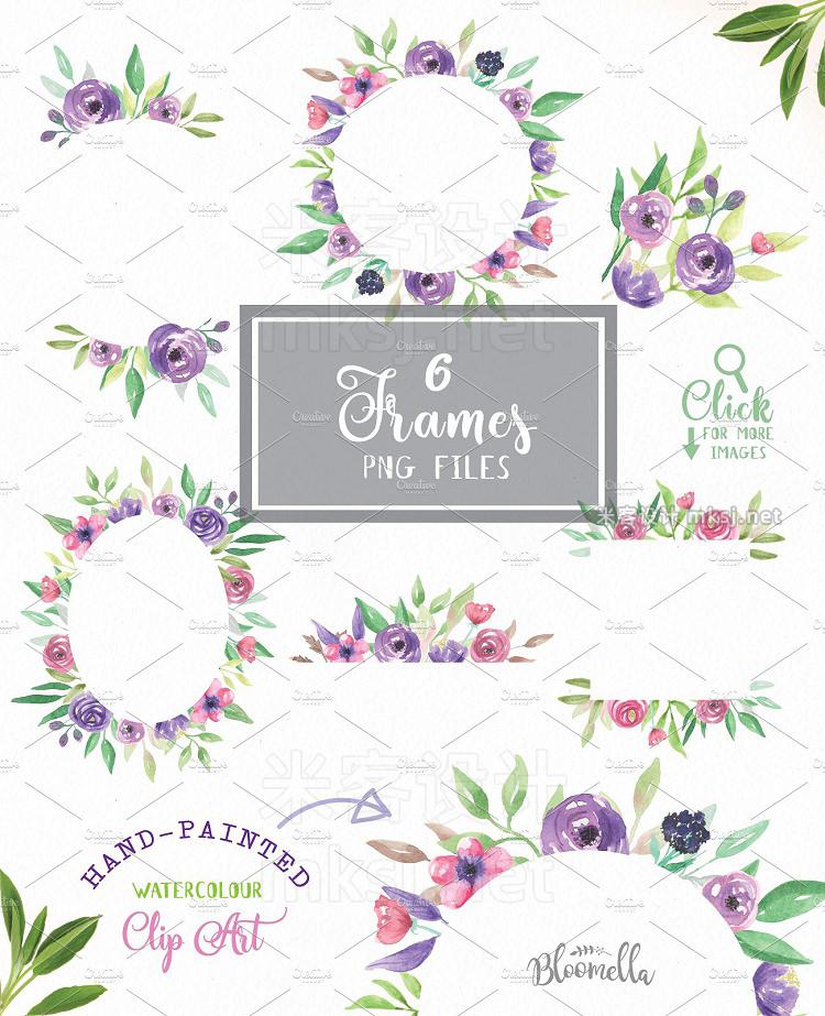 png素材 Flower Watercolour Floral Clipart