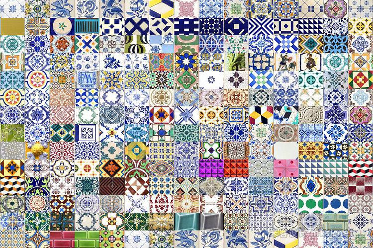 png素材 200 Seamless Portugal Azulejo Tiles