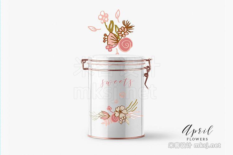 png素材 April Flowers
