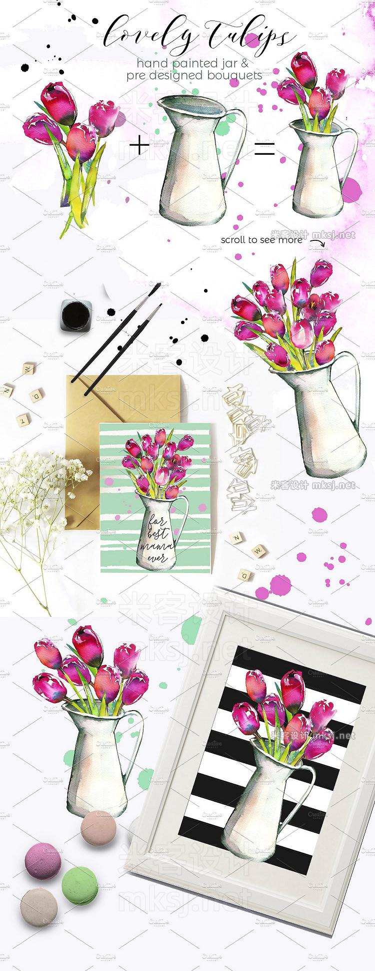 png素材 Spring Foliage Watercolor Bundle