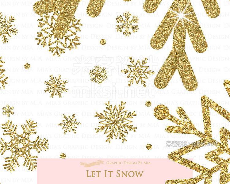 png素材 Gold Christmas Gold winter