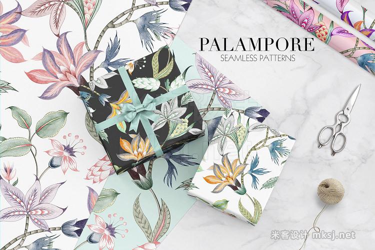 png素材 Palampore seamless watercolor print