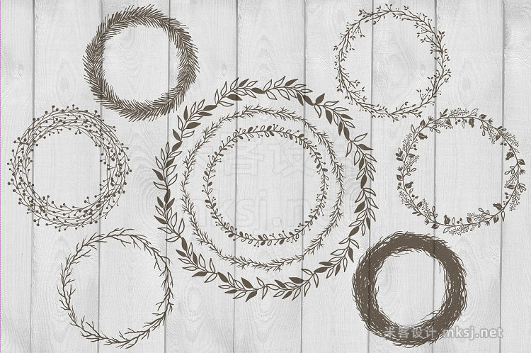 png素材 Frames Wreaths and Borders