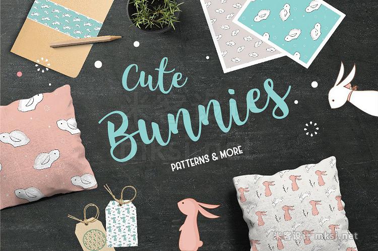 png素材 Cute Bunies PATTERNS MORE