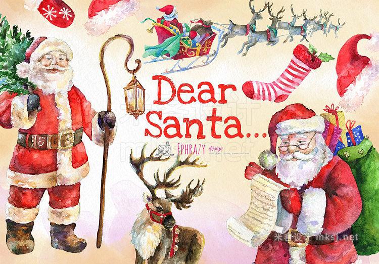 png素材 Christmas clipart Santa clipart