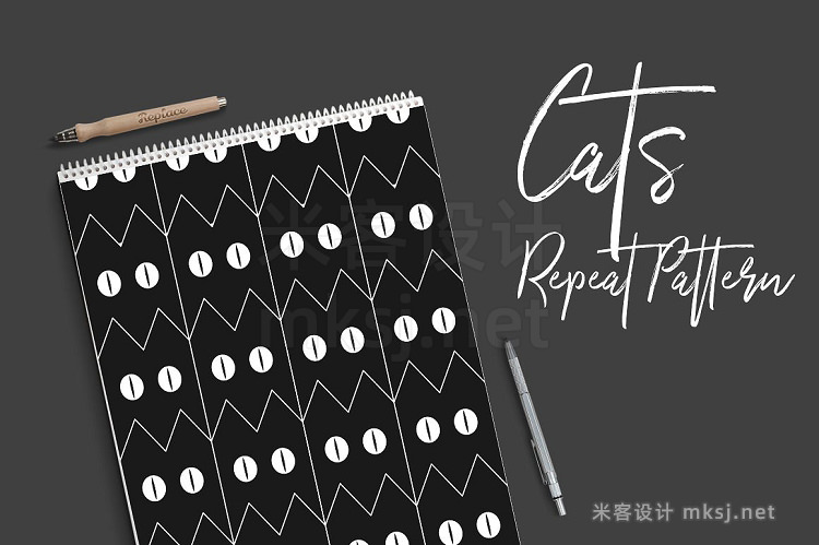 png素材 Cats - Repeat Pattern