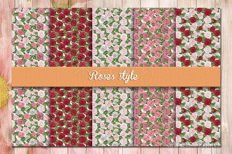 png素材 Floral Seamless Patterns