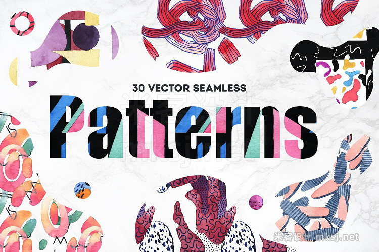 png素材 Vibrant Watercolor Patterns