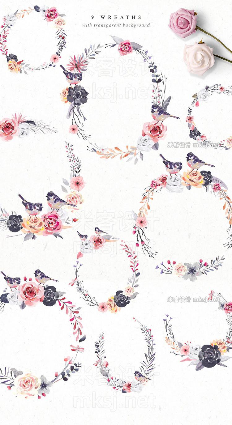 png素材 Clara • Watercolor Design Set