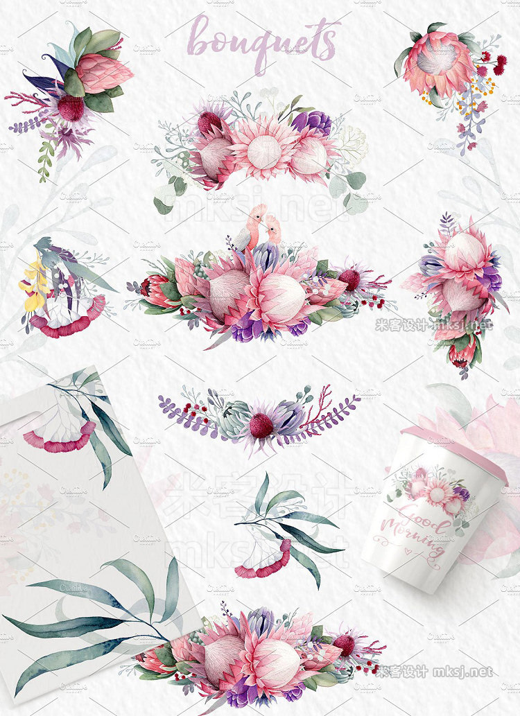 png素材 Forever - watercolor flower set