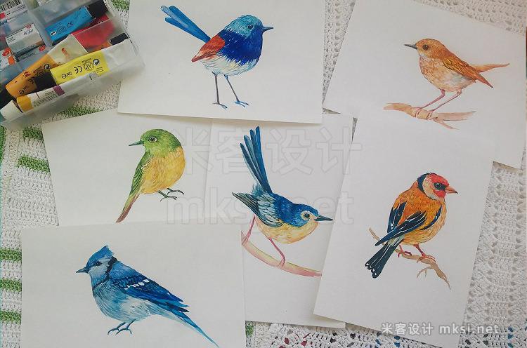 png素材 30 little birdswatercolor
