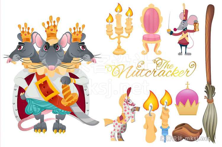 png素材 Nutcracker Color set