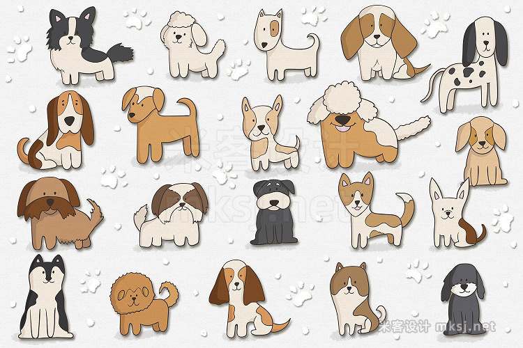 png素材 Cute Puppies