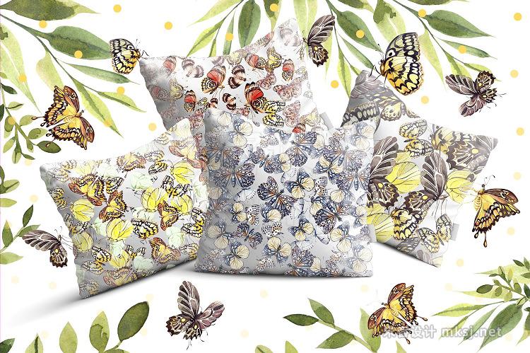 png素材 Beautiful watercolor butterflies