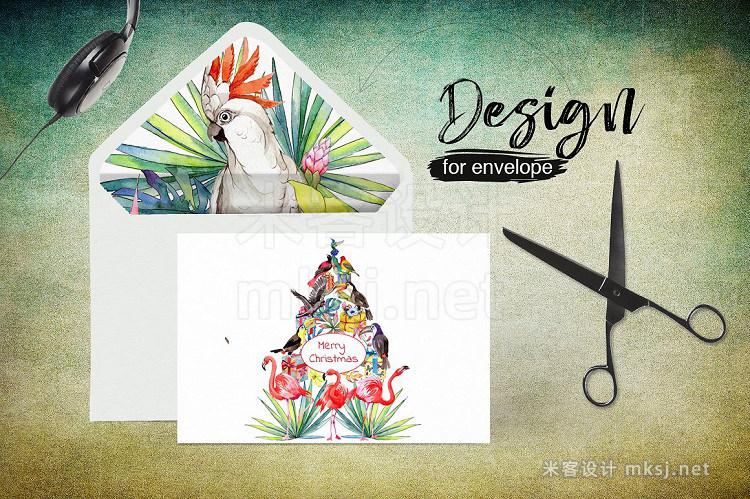 png素材 Tropical PNG watercolor flower set