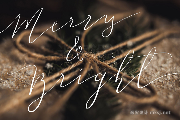 png素材 55 Hand Lettered Holiday Overlays