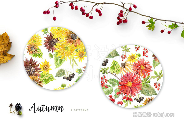 png素材 Autumn Watercolor collection