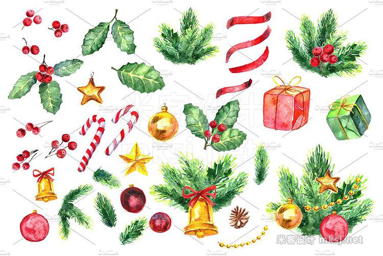 png素材 Watercolor Christmas set