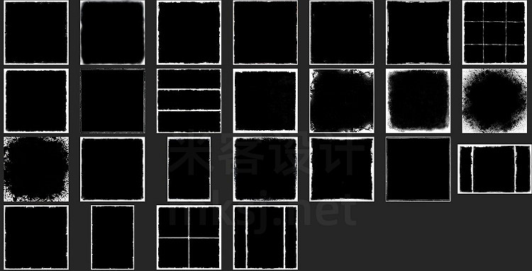 png素材 25 Grunge Frame Overlays