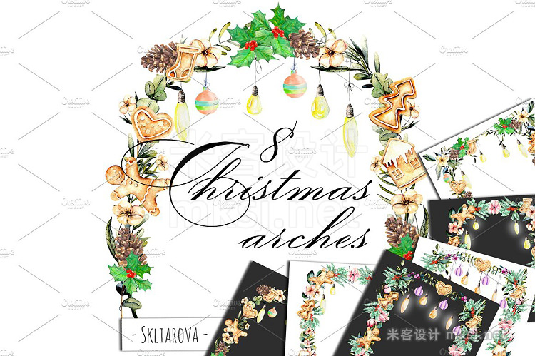 png素材 Christmas Arches