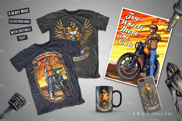 png素材 Motorcycle Illustrations Builder