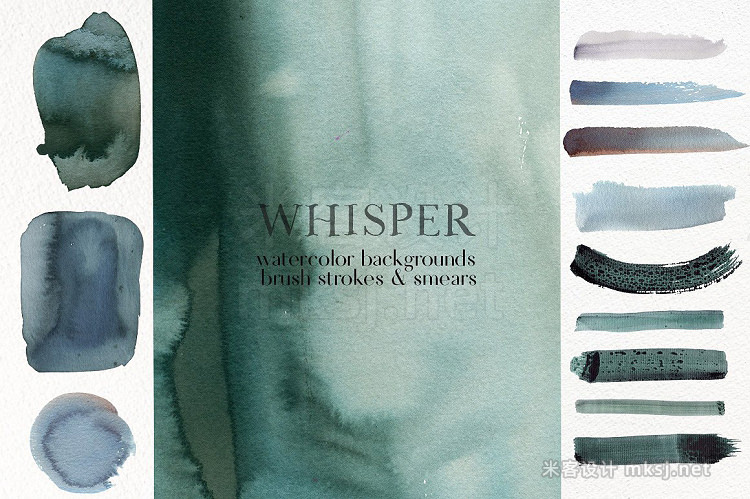 png素材 Whisper - Watercolor Backgrounds
