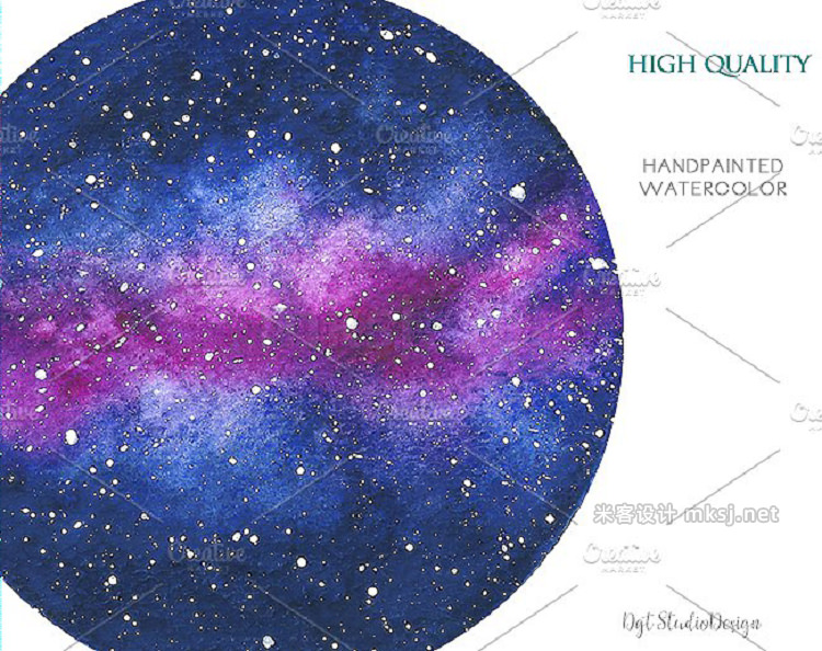 png素材 watercolor galaxy space clipart